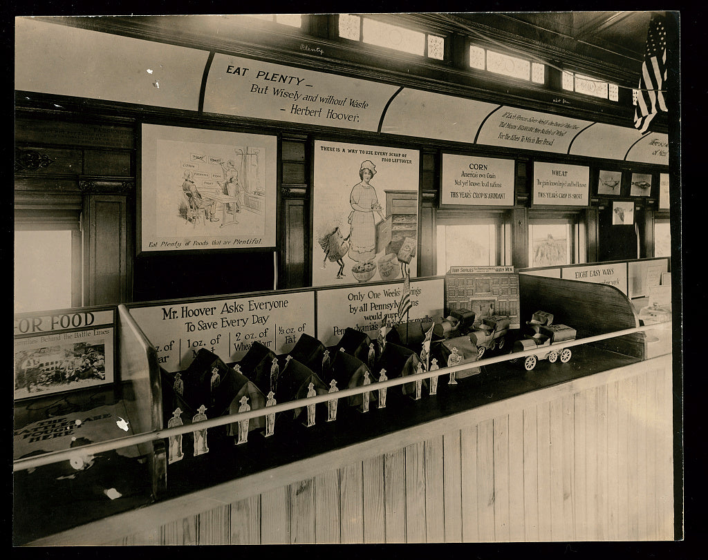 8 x 10 Reprinted Old Photo of Penna food conservation train 1918 National Photo Co  56a