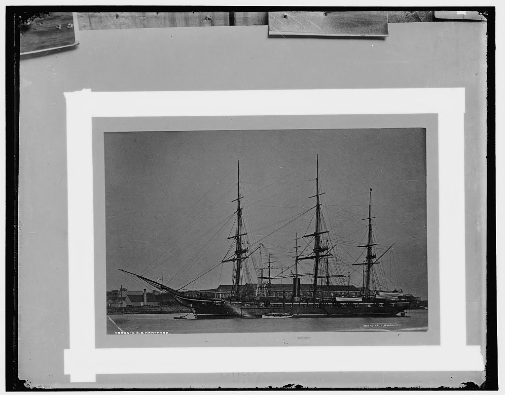16 x 20 Gallery Wrapped Frame Art Canvas Print of U S S Hartford 1896 Detriot Publishing co.  26a