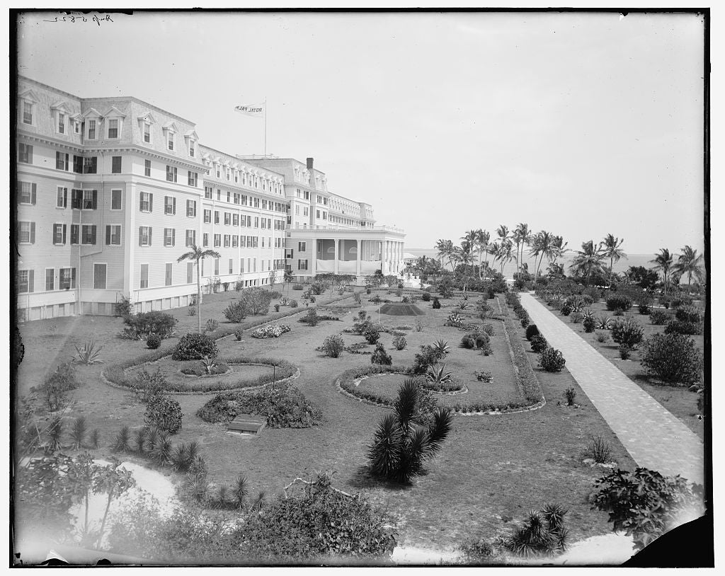 16 x 20 Gallery Wrapped Frame Art Canvas Print of Royal Palm Hotel Miama Fla  1900 Detriot Publishing co.  36a