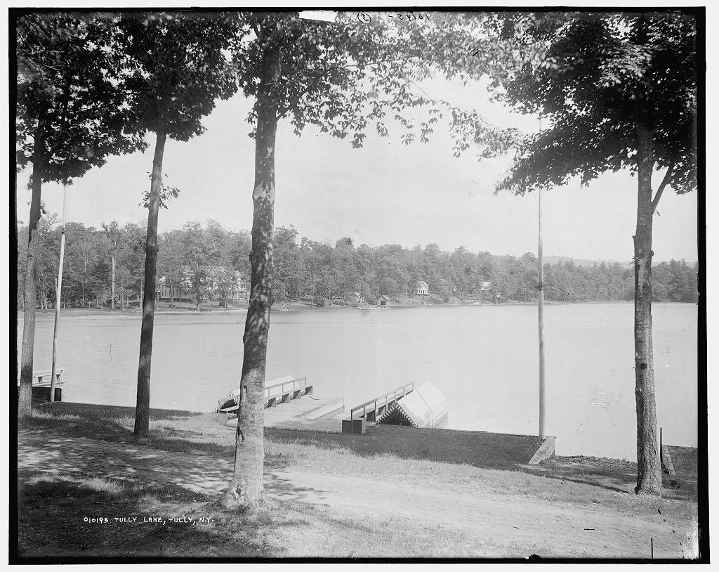 16 x 20 Gallery Wrapped Frame Art Canvas Print of Tully Lake Tully N Y  1896 Detriot Publishing co.  30a