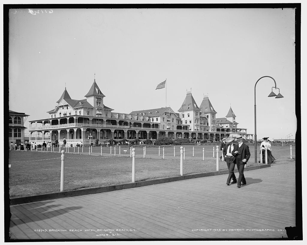 16 x 20 Gallery Wrapped Frame Art Canvas Print of Brighton Beach Hotel Brighton Beach N Y  1903 Detriot Publishing co.  43a