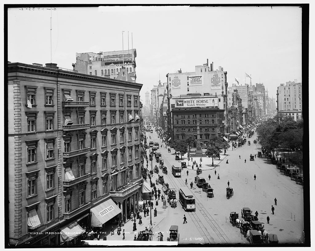 16 x 20 Gallery Wrapped Frame Art Canvas Print of Madison Square from the Flat-Iron i e Flatiron Building New York 1905 Detriot Publishing co.  76a