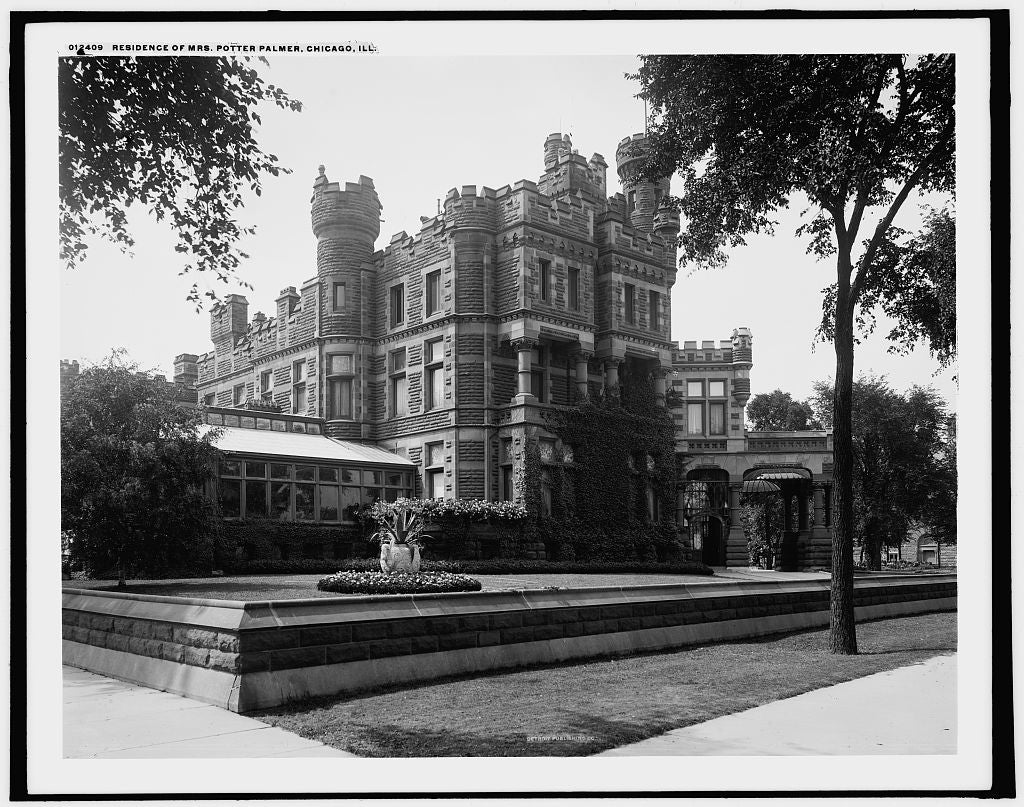 16 x 20 Gallery Wrapped Frame Art Canvas Print of Residence of Mrs Potter Palmer Chicago Ill  1900 Detriot Publishing co.  50a