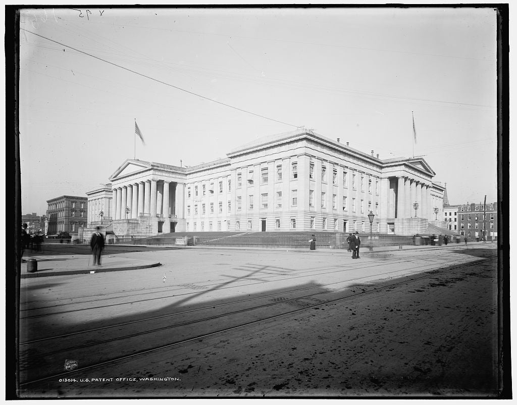 16 x 20 Gallery Wrapped Frame Art Canvas Print of U S Patent Office Washington 1900 Detriot Publishing co.  37a