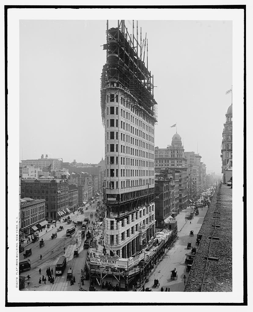 16 x 20 Gallery Wrapped Frame Art Canvas Print of Flatiron Building New York N Y  1902 Detriot Publishing co.  74a