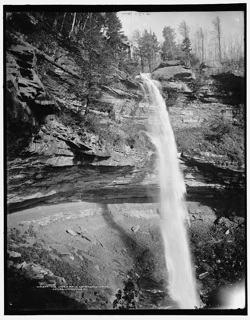 16 x 20 Gallery Wrapped Frame Art Canvas Print of The Upper fall Kaaterskill Falls Catskill Mountains N Y  1902 Detriot Publishing co.  42a