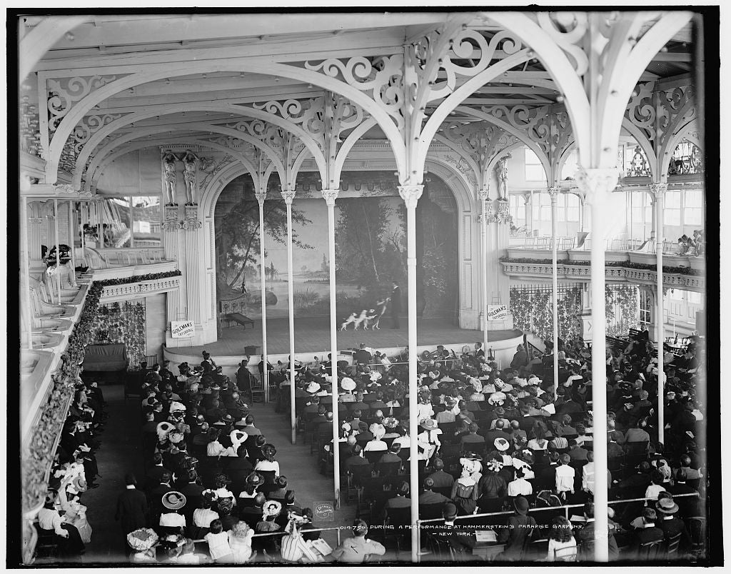 16 x 20 Gallery Wrapped Frame Art Canvas Print of During a performance at Hammerstein's Paradise Gardens New York 1903 Detriot Publishing co.  41a