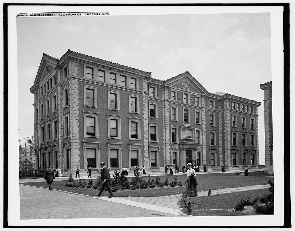 16 x 20 Gallery Wrapped Frame Art Canvas Print of Schermerhorn Hall Columbia University N Y  1903 Detriot Publishing co.  08a