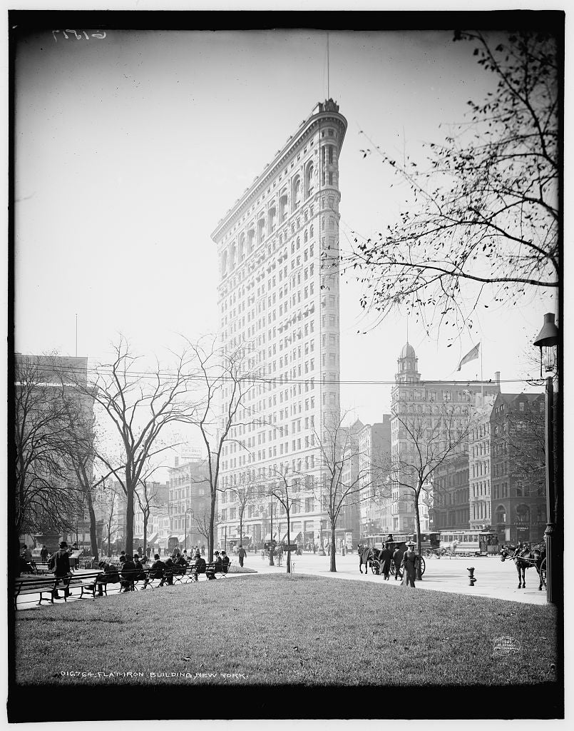 16 x 20 Gallery Wrapped Frame Art Canvas Print of Flat-iron i e Flatiron Building New York 1903 Detriot Publishing co.  63a