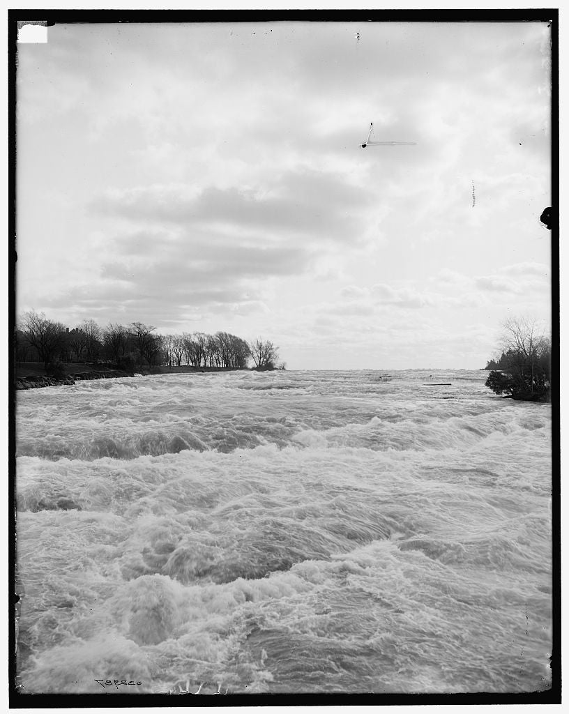 16 x 20 Gallery Wrapped Frame Art Canvas Print of The Rapids Niagara Falls N Y  1905 Detriot Publishing co.  95a