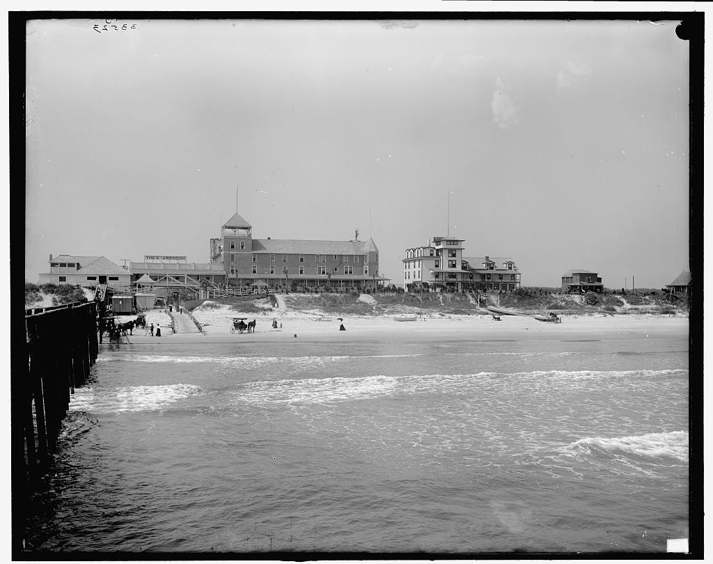 16 x 20 Gallery Wrapped Frame Art Canvas Print of Clarendon Hotel and breakers Daytona Florida 1905 Detriot Publishing co.  68a