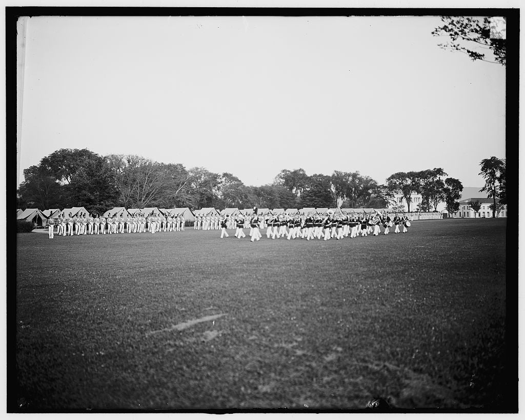 16 x 20 Gallery Wrapped Frame Art Canvas Print of Dress parade band passing in review West Point N Y  1905 Detriot Publishing co.  29a