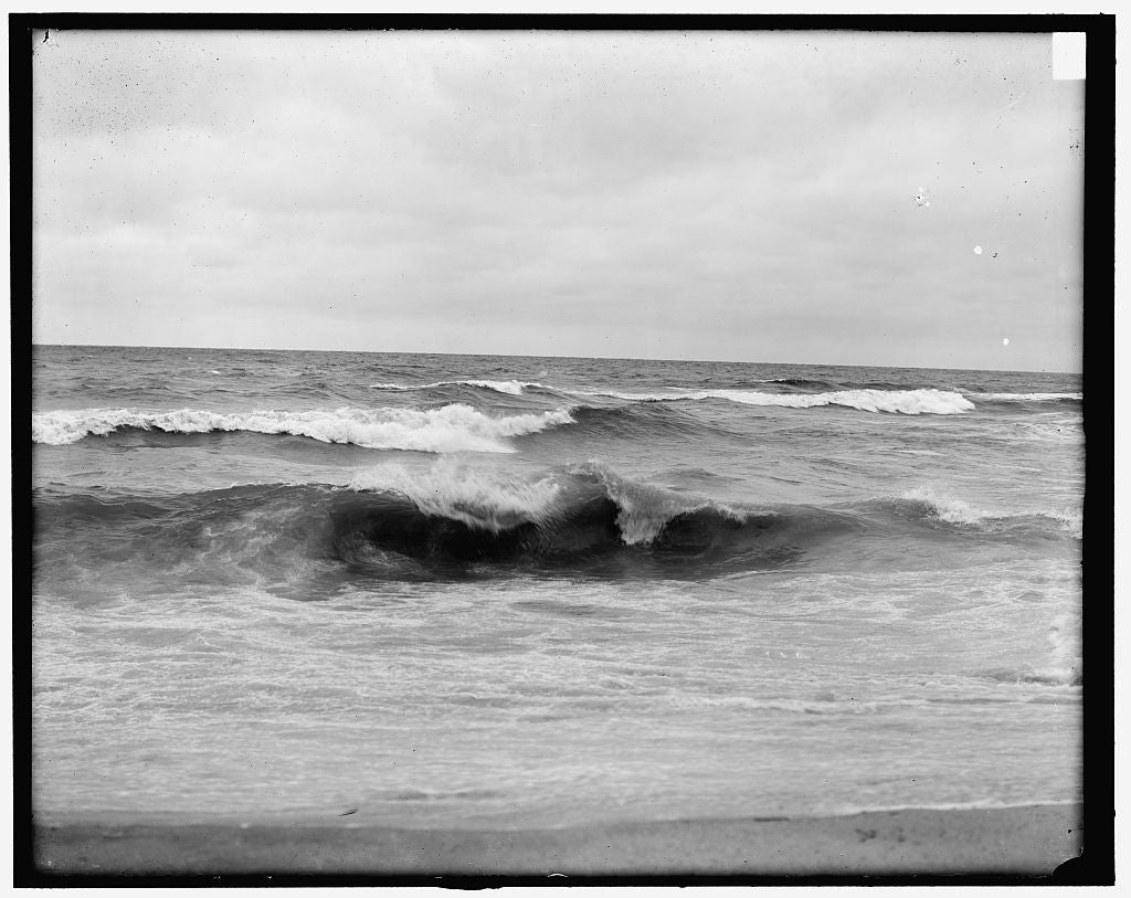 16 x 20 Gallery Wrapped Frame Art Canvas Print of A bit of Atlantic surf 1900 Detriot Publishing co.  79a