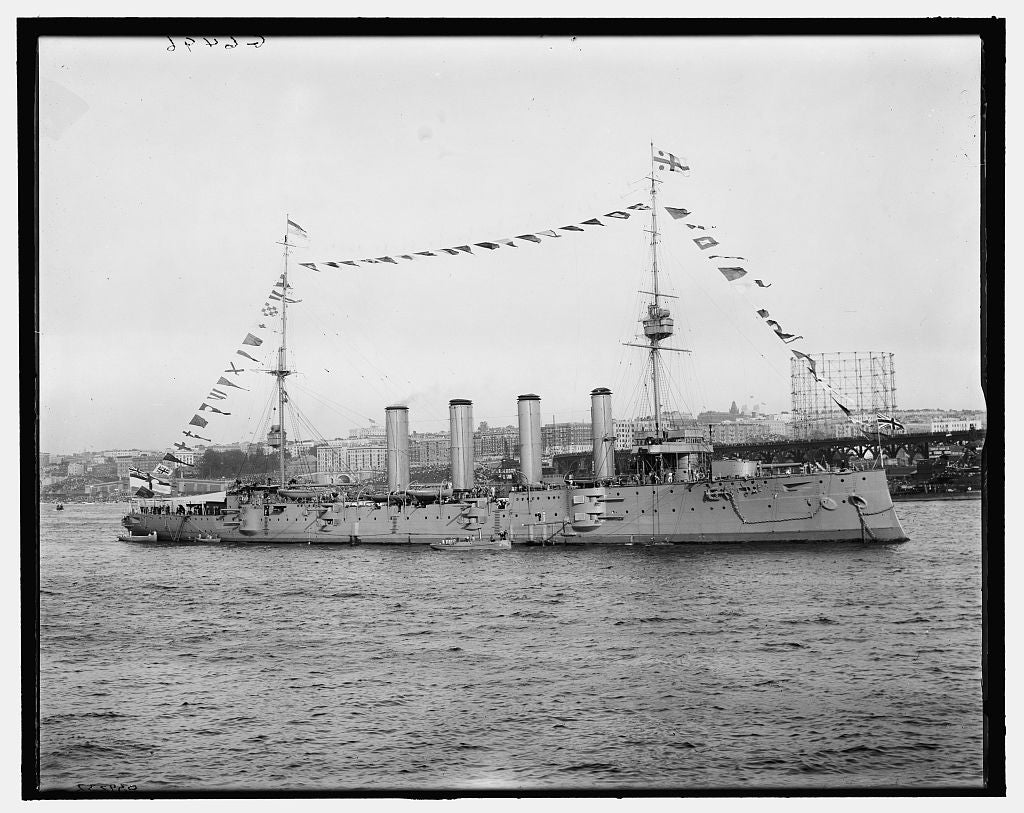 16 x 20 Gallery Wrapped Frame Art Canvas Print of Drake British cruiser 1909 Detriot Publishing co.  74a