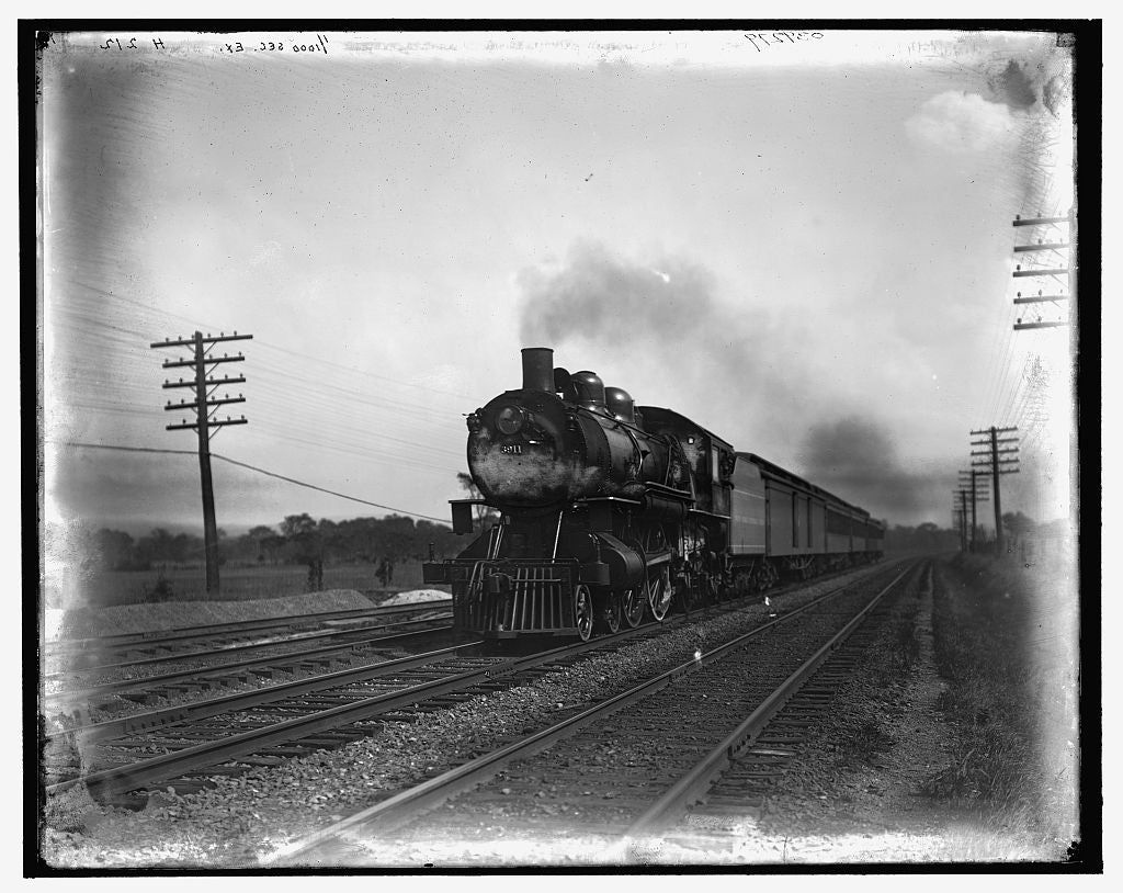 16 x 20 Gallery Wrapped Frame Art Canvas Print of Empire State Express Utica N Y  1908 Detriot Publishing co.  02a