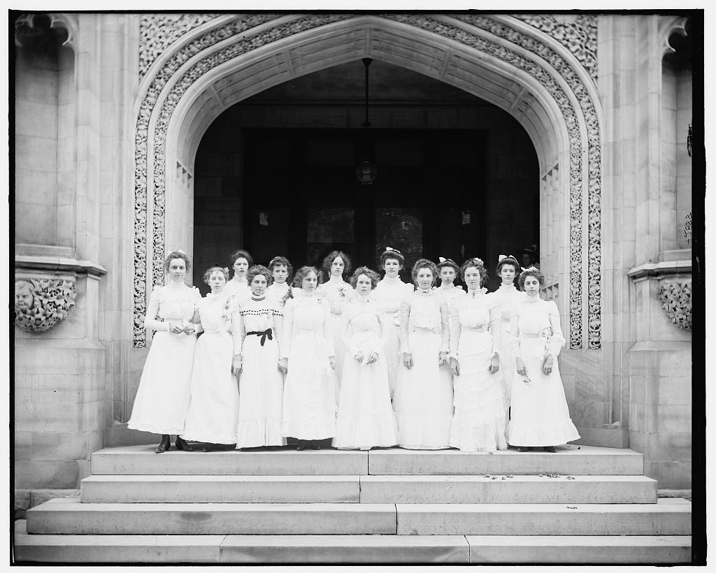 16 x 20 Gallery Wrapped Frame Art Canvas Print of School girls 1903 Detriot Publishing co.  37a