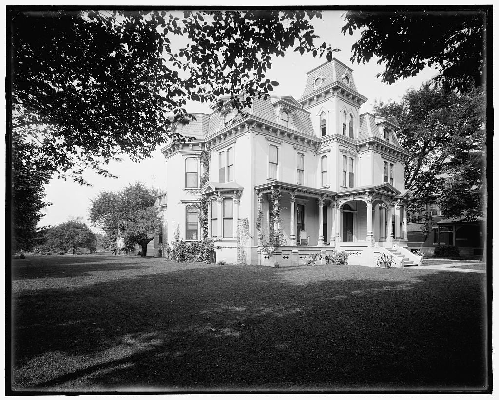 16 x 20 Gallery Wrapped Frame Art Canvas Print of Residence of Mrs McGraw 1085 Woodward Avenue Detroit Mich  1903 Detriot Publishing co.  98a