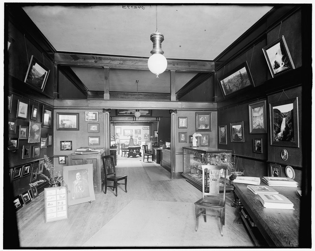 16 x 20 Gallery Wrapped Frame Art Canvas Print of Art rooms of Detroit Photographic Co general view 231 Woodward Ave  1902 Detriot Publishing co.  59a