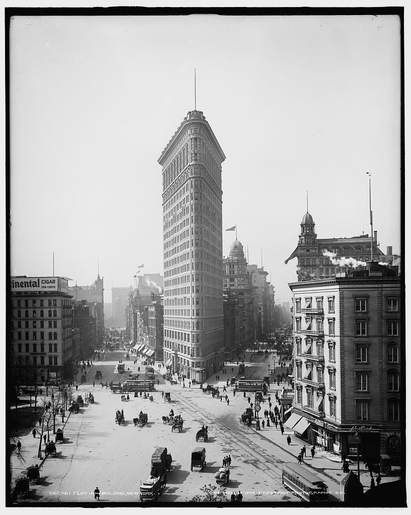 16 x 20 Gallery Wrapped Frame Art Canvas Print of Flatiron Building New York N Y  1903 Detriot Publishing co.  32a