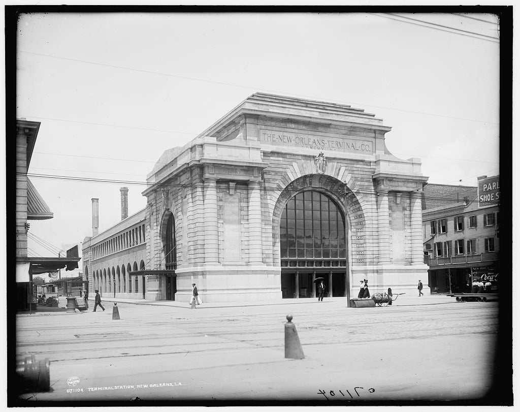 16 x 20 Gallery Wrapped Frame Art Canvas Print of Terminal station New Orleans La  1902 Detriot Publishing co.  93a