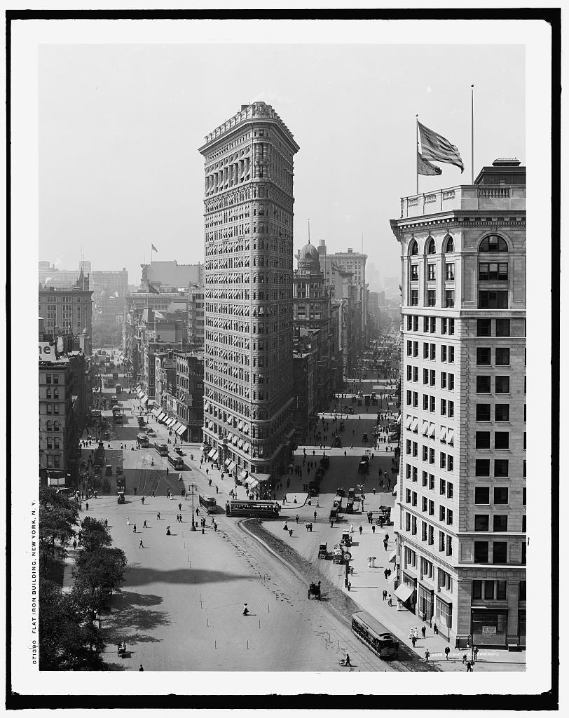 16 x 20 Gallery Wrapped Frame Art Canvas Print of Flat Iron i e Flatiron Building New York N Y  1908 Detriot Publishing co.  13a