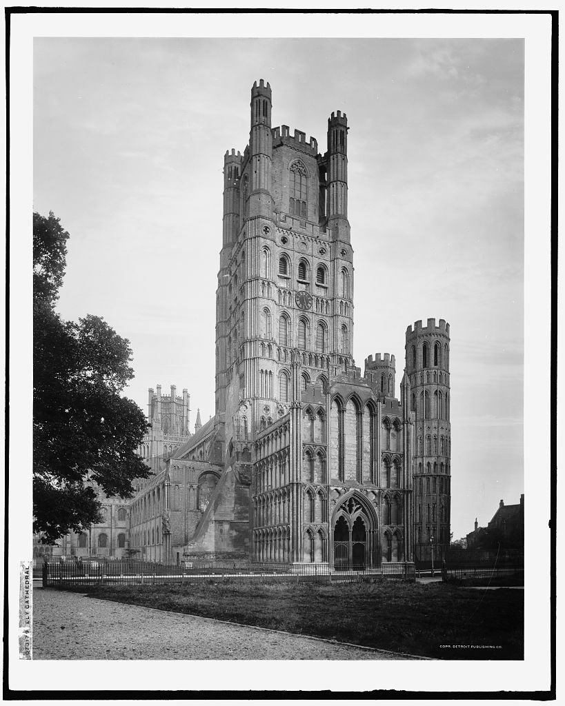 16 x 20 Gallery Wrapped Frame Art Canvas Print of Ely Cathedral Cambridgeshire England 1910 Detriot Publishing co.  13a