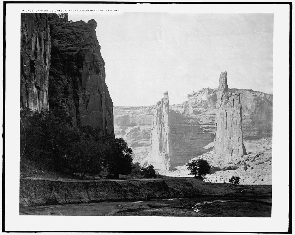 16 x 20 Gallery Wrapped Frame Art Canvas Print of  Canyon de Chelly Navaho Reservation New Mex i e Arizona  1910 Detriot Publishing co.  39a