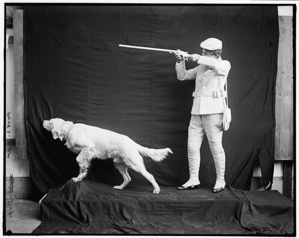 16 x 20 Gallery Wrapped Frame Art Canvas Print of Flushed Billy in hunting pose 1910 Detriot Publishing co.  61a