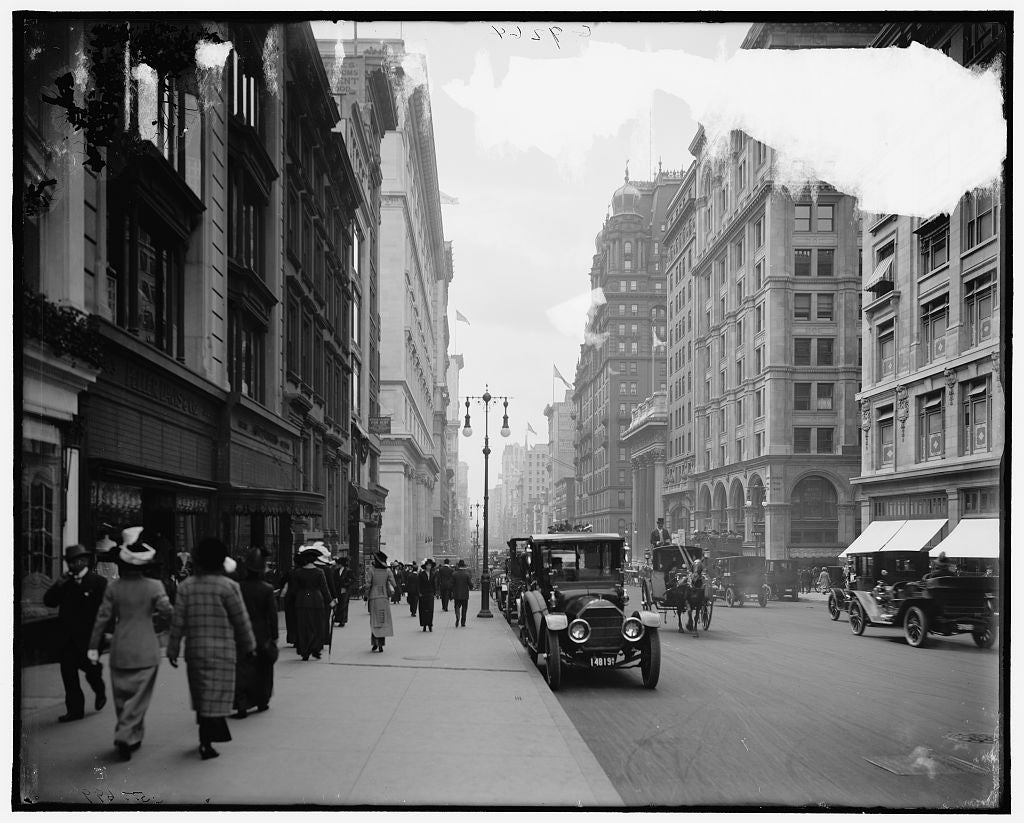 16 x 20 Gallery Wrapped Frame Art Canvas Print of Fifth Avenue south from Thirty-sixth Street New York N Y  1908 Detriot Publishing co.  32a