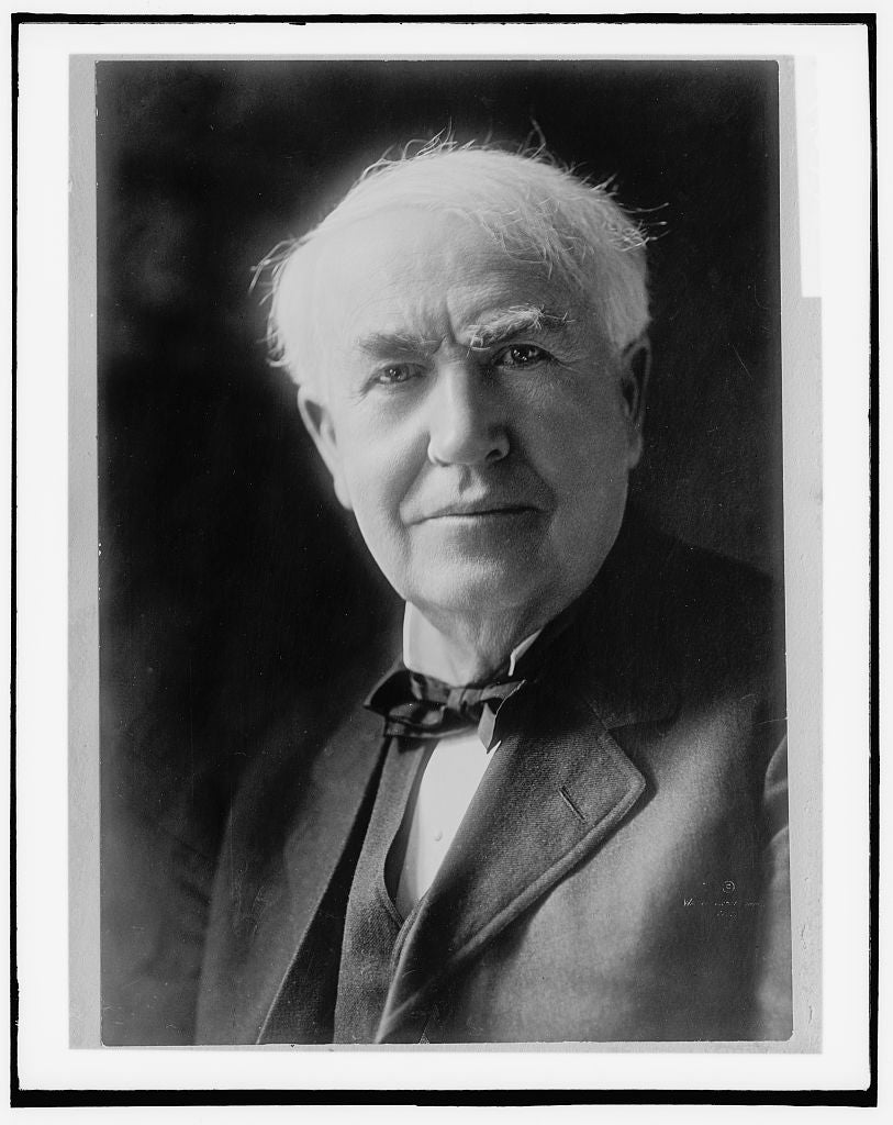 16 x 20 Gallery Wrapped Frame Art Canvas Print of Thomas A Edison head-and-shoulders portrait 1910 Detriot Publishing co.  01a