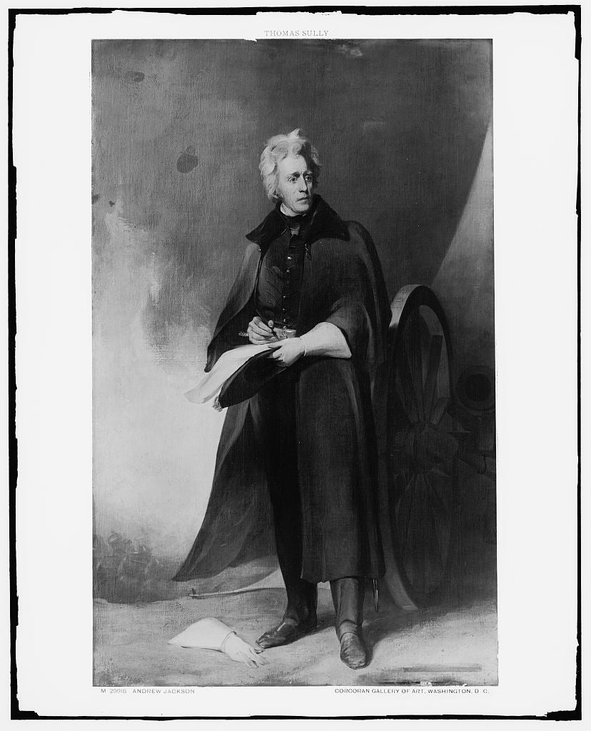 16 x 20 Gallery Wrapped Frame Art Canvas Print of Andrew Jackson full-length portrait 1910 Detriot Publishing co.  05a
