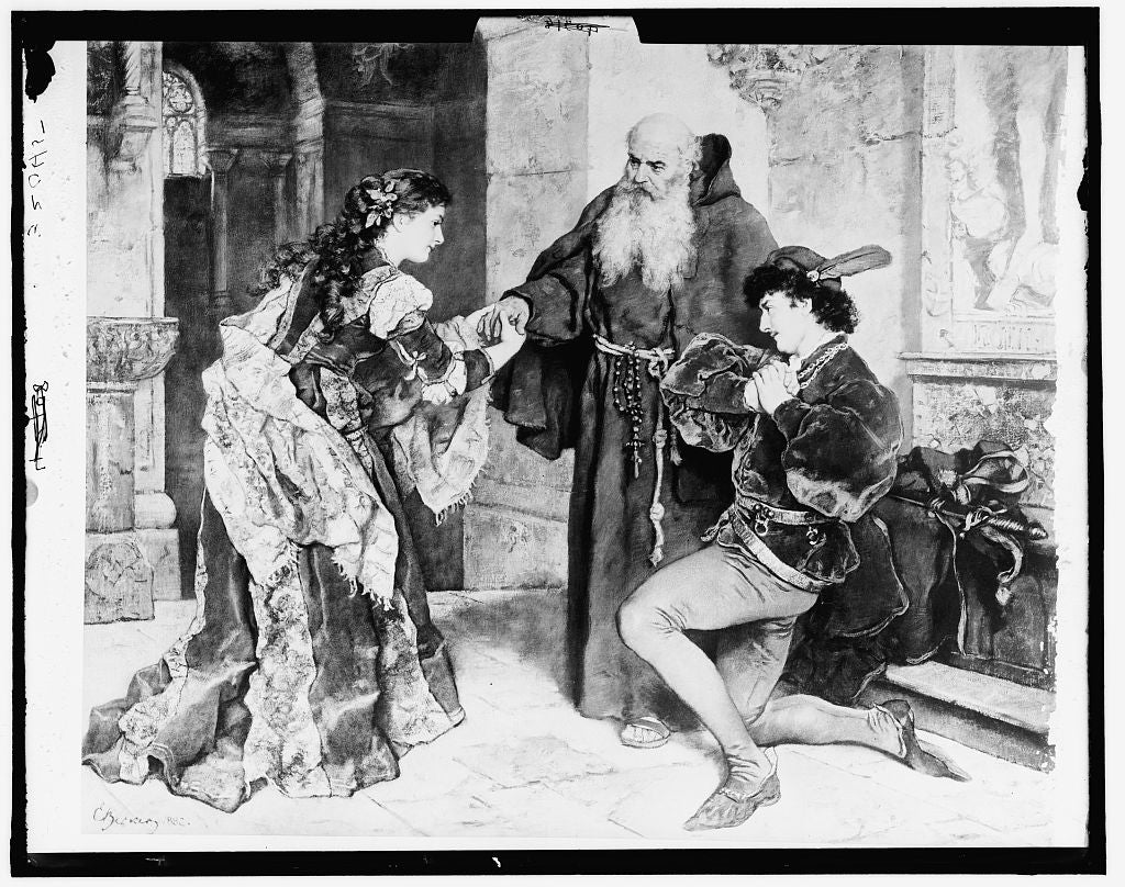 16 x 20 Gallery Wrapped Frame Art Canvas Print of Romeo and Juliet 1910 Detriot Publishing co.  19a