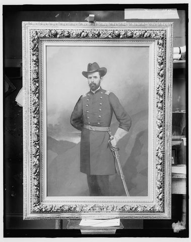 16 x 20 Gallery Wrapped Frame Art Canvas Print of Civil war officer possibly Russell Alexander Alger 1910 Detriot Publishing co.  12a