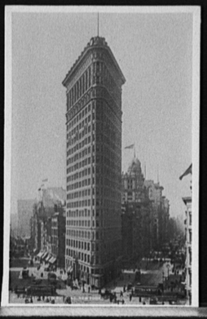 16 x 20 Gallery Wrapped Frame Art Canvas Print of Flat Iron i e Flatiron Building New York 1903 Detriot Publishing co.  91a