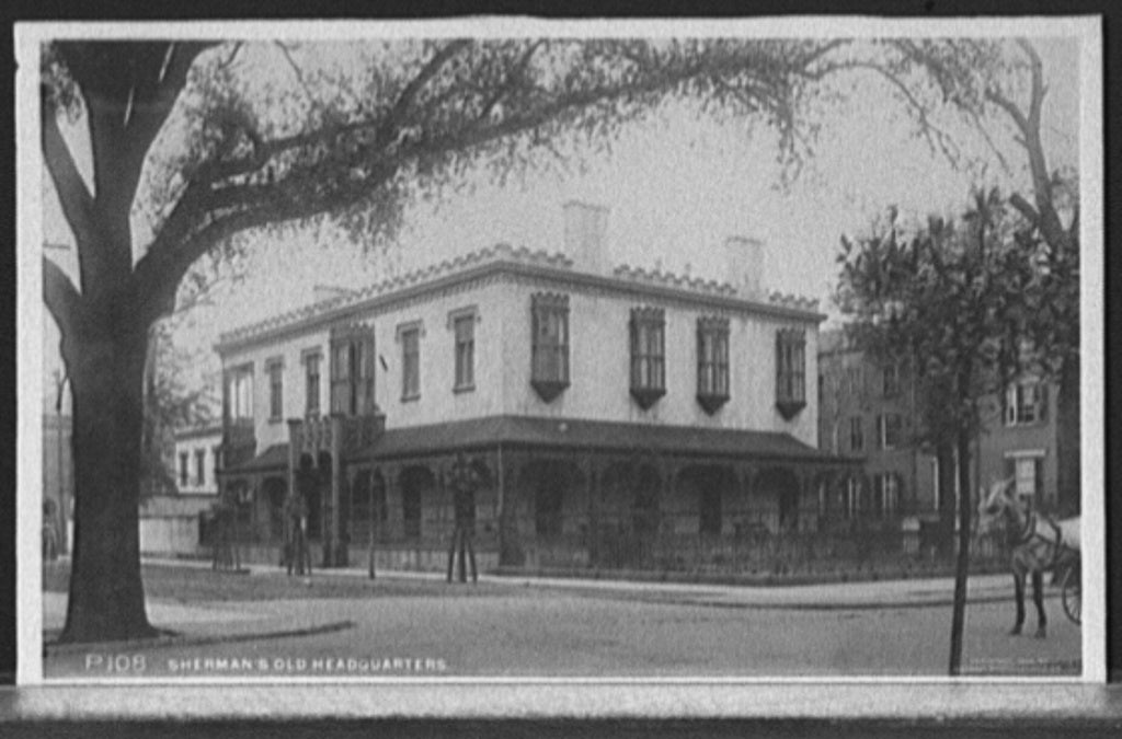 16 x 20 Gallery Wrapped Frame Art Canvas Print of Sherman's old headquarters Savannah Ga  1900 Detriot Publishing co.  22a