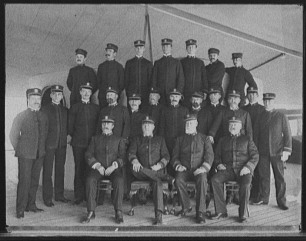 16 x 20 Gallery Wrapped Frame Art Canvas Print of U S S New York Capt Chadwick and officers 1899 Detriot Publishing co.  23a