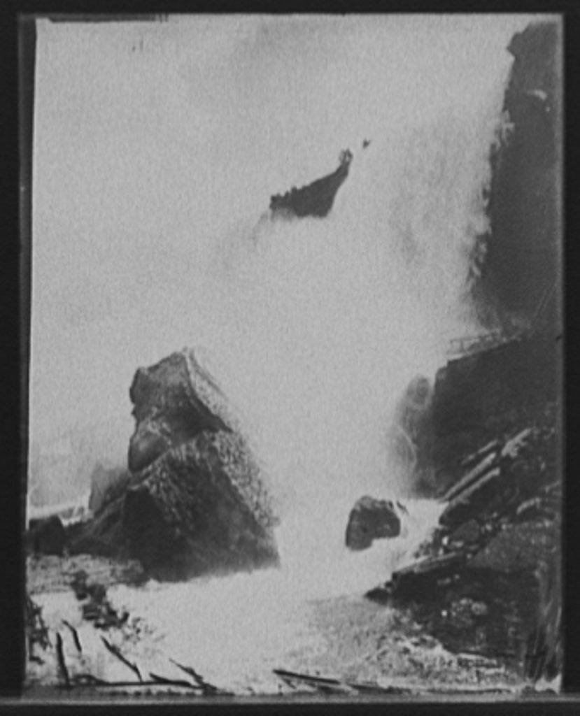 16 x 20 Gallery Wrapped Frame Art Canvas Print of Rock of Ages Niagara Falls N Y  1905 Detriot Publishing co.  22a