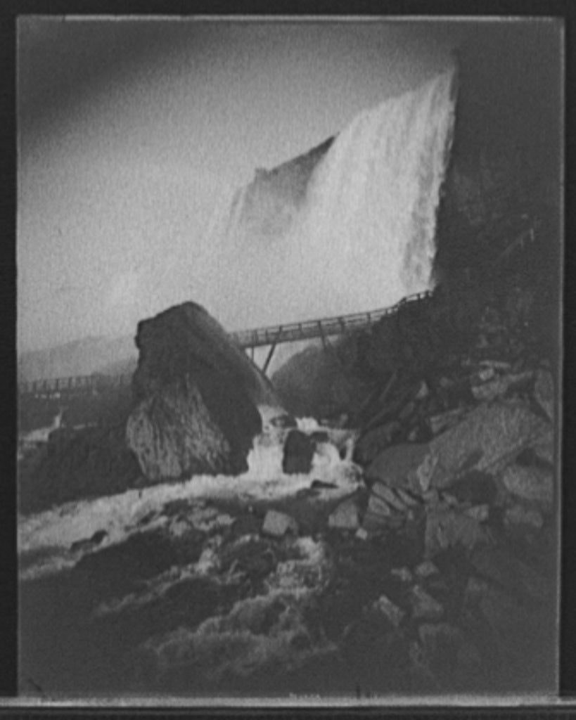 16 x 20 Gallery Wrapped Frame Art Canvas Print of Rock of Ages and Cave of the Winds Niagara Falls N Y  1910 Detriot Publishing co.  22a