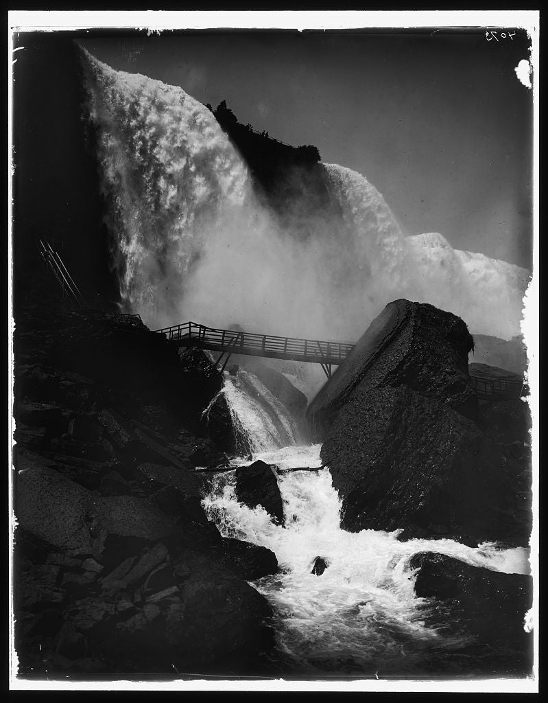 16 x 20 Gallery Wrapped Frame Art Canvas Print of Rock of Ages American Falls Niagara 1900 Detriot Publishing co.  08a