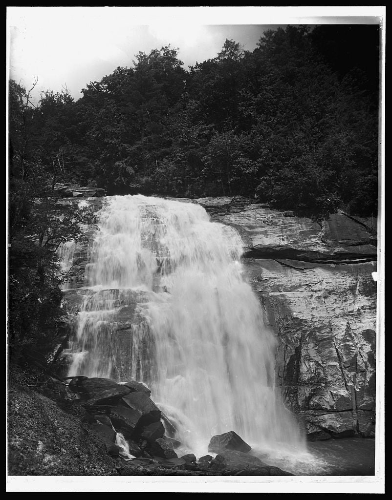 16 x 20 Gallery Wrapped Frame Art Canvas Print of Sapphire N C Horse Pasture Falls 1902 Detriot Publishing co.  09a