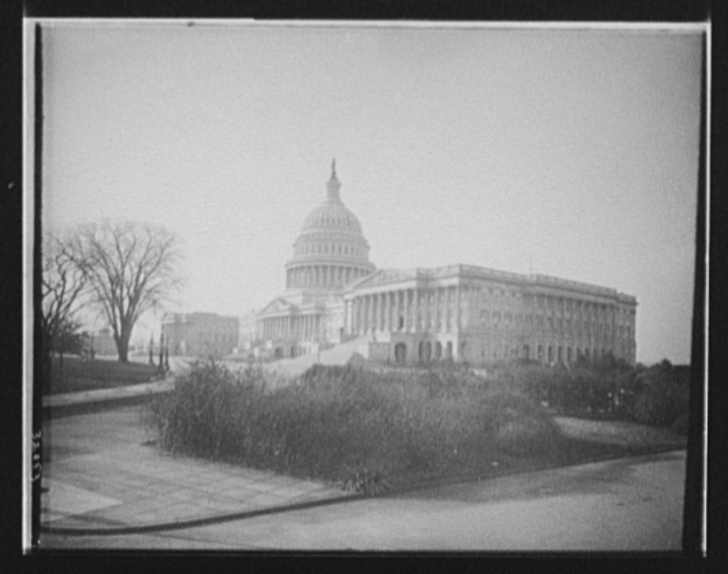 16 x 20 Gallery Wrapped Frame Art Canvas Print of The United States Capitol Washington D C  1908 Detriot Publishing co.  22a