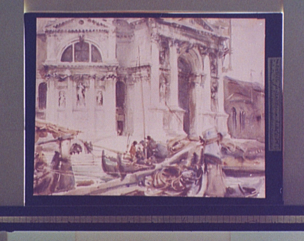 16 x 20 Gallery Wrapped Frame Art Canvas Print of Santa Maria della Salute 1880 Detriot Publishing co.  23a