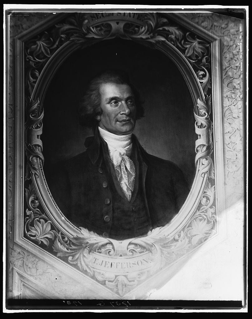 16 x 20 Gallery Wrapped Frame Art Canvas Print of Thomas Jefferson head-and-shoulders portrait 1904 Detriot Publishing co.  67a