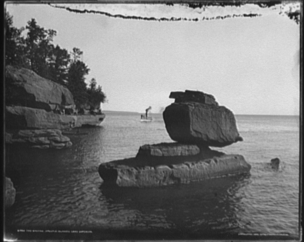 16 x 20 Gallery Wrapped Frame Art Canvas Print of The Sphynx Apostle Islands Lake Superior 1898 Detriot Publishing co.  74a