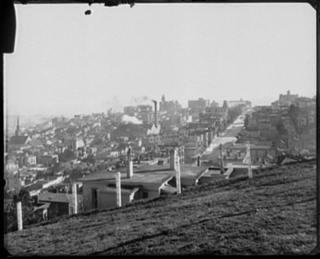 16 x 20 Gallery Wrapped Frame Art Canvas Print of San Francisco view toward Nob Hill from Russian Hill 1905 Detriot Publishing co.  43a
