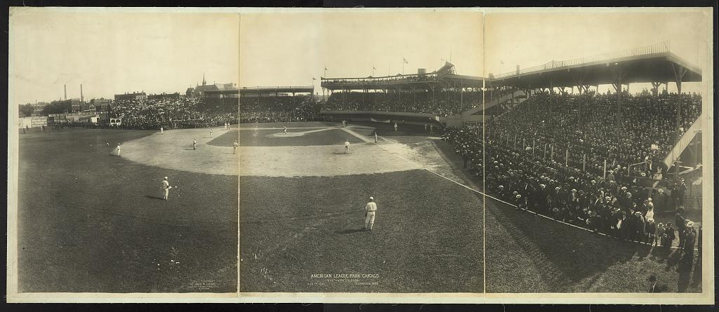 8 x 12 Reprinted Photo of American League Park, Chicago, Boston and Chicago, Aug. 14, 1904, attandance [sic], 30,198 by Geo. R. Lawrence Co. 1904 August 14 330 BB_
