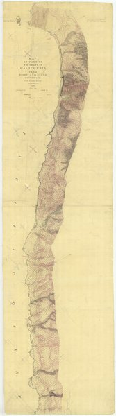 18 x 24 inch 1853 US old nautical map drawing chart of California From Point Ano Nuevo Southward From  U.S. Coast Survey x1271
