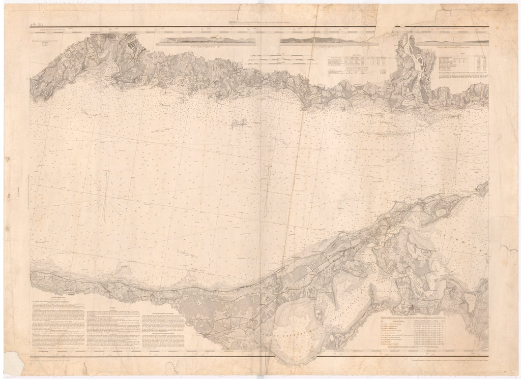 18 x 24 inch 1846 US old nautical map drawing chart of MIDDLE PART OF LONG ISLAND SOUND From  US Coast & Geodetic Survey x5249