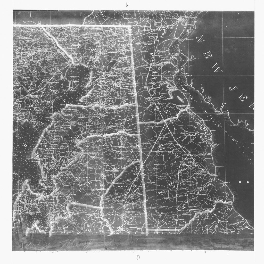 18 x 24 inch 1865 New Jersey old nautical map drawing chart of STATE OF MARYLAND From  NOAA x7419