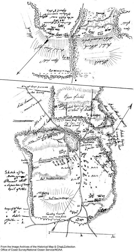 1864 Us Battle Of Pleasant Hill 1864 From Noaa X5122 Vintography - Us-map-1864